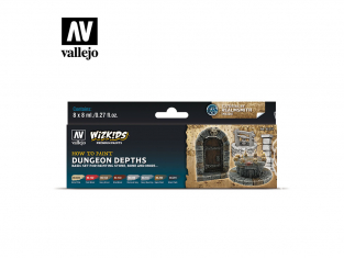 Vallejo Set Wizkids 80251 Dungeon Depths 8x8ml