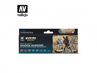 Vallejo Set Wizkids 80253 Shadow Warriors 8x8ml