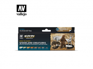 Vallejo Set Wizkids 80254 Woodland Creatures 8x8ml