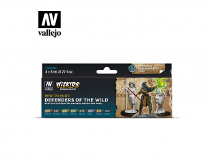 Vallejo Set Wizkids 80255 Defenders of the Wild 8x8ml