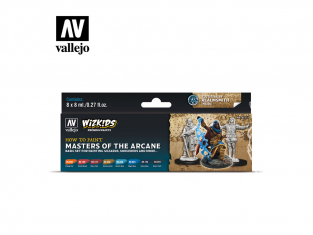 Vallejo Set Wizkids 80257 Masters of the Arcane 8x8ml