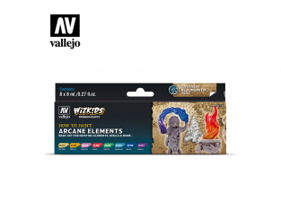Vallejo Set Wizkids 80258 Arcane Elements 8x8ml