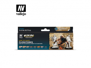 Vallejo Set Wizkids 80259 Fleshtones 8x8ml