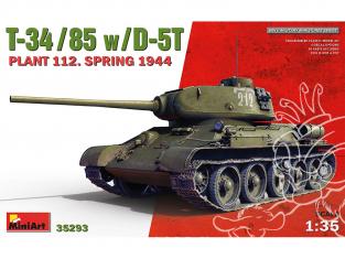 Mini Art maquette militaire 35293 T-34/85 avec D-5T. PLANT 112. SPRING 1944 1/35