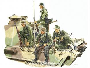 dragon maquette militaire 6156 Fantanssins sur panzer Loraine 1944 1/35