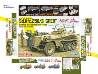 "Dragon maquette militaire 6911 Sd.Kfz.250/3 ""Greif"" (2 in 1) 1/35"