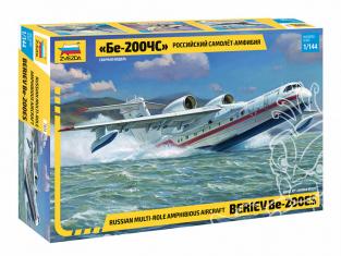 Zvezda maquette avion 7034 Avion amphibie russe Be-200 1/144