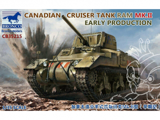 Bronco maquette militaire CB35215 Char Canadien RAM MK.II Early production 1/35