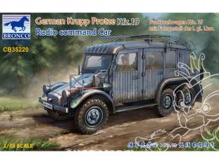 Bronco maquette militaire CB35220 KRUPP PROTZE Kfz.19 Command Car Radio 1/35