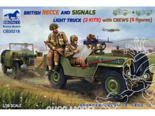 Bronco maquette militaire CB 35218 Deux Jeeps avec cinq Figurines 1/35