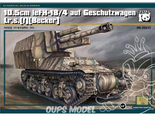 Panda Hobby maquette militaire 35037 10.5cm LeFH-18/4 auf Geschutzwagen Lr.s (f) (Becker) CANON AUTOMOTEUR DE 105mm 1/35