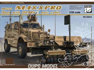"""Panda Hobby maquette militaire 35044 M1235 MAXXPRO """"DASH"""" avec SYSTÈME DE DÉMINAGE """"SPARK II""""2019 1/35"""