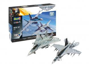 Revell kit avion 05677 Gift Set Top Gun Movies 2 avions inclus 1/48