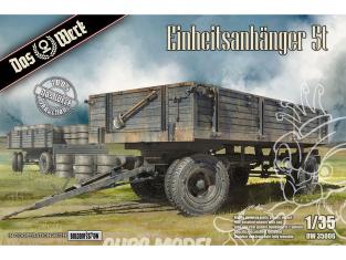 DAS WERK maquette militaire DW35006 Remorque standard 5t 1/35