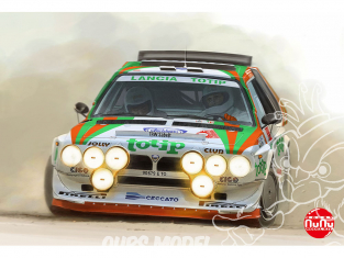 NuNu maquette voiture de Rallye PN24005 Lancia Delta S4 '86 San Remo 1/24