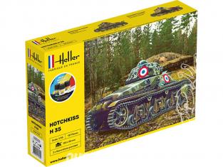 Heller maquette militaire 57132 Starter kit Hotchkiss H35 1/35