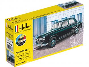 HELLER maquette voiture 56161 nouvelle boite PEUGEOT 403 kit complet 1/43