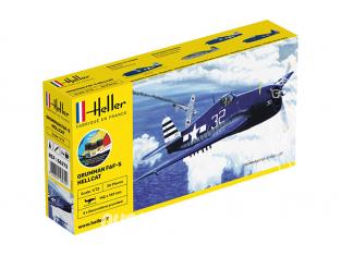 Heller maquette avion 56272 nouvelle boite F6F-5 HELLCAT inclus peintures principale colle et pinceau 1/72