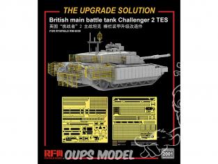 Rye Field Model maquette militaire 2001 Set amélioration Char de combat principal Britannique Challenger 2 TES 1/35