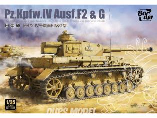 Border model maquette militaire BT-004 Pz.Kpfw.IV Ausf.F2 & G 2en1 1/35