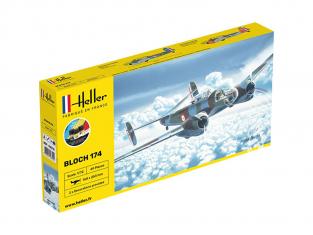 Heller maquette avion 56312 Starter Kit Bloch 174 A3 inclus colle et peintures 1/72