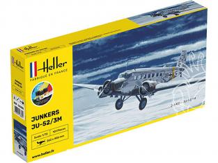 Heller maquette avion 56380 STARTER KIT Ju-52/3m inclus colle et peintures 1/72