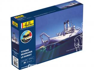 Heller maquette bateau 56615 Starter Kit Le Suroît navire de recherche du Titanic 1/200