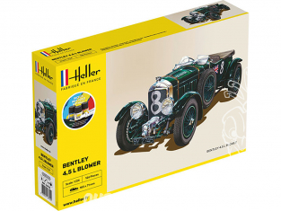 Heller maquette voiture 56722 Starter Set Bentley 4,5L Blower Inclus peintures principale colle et pinceau 1/24