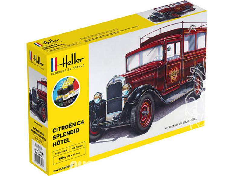Heller maquette voiture 56713 Starter Kit CITROEN C4 SPLENDID HOTEL 1/24