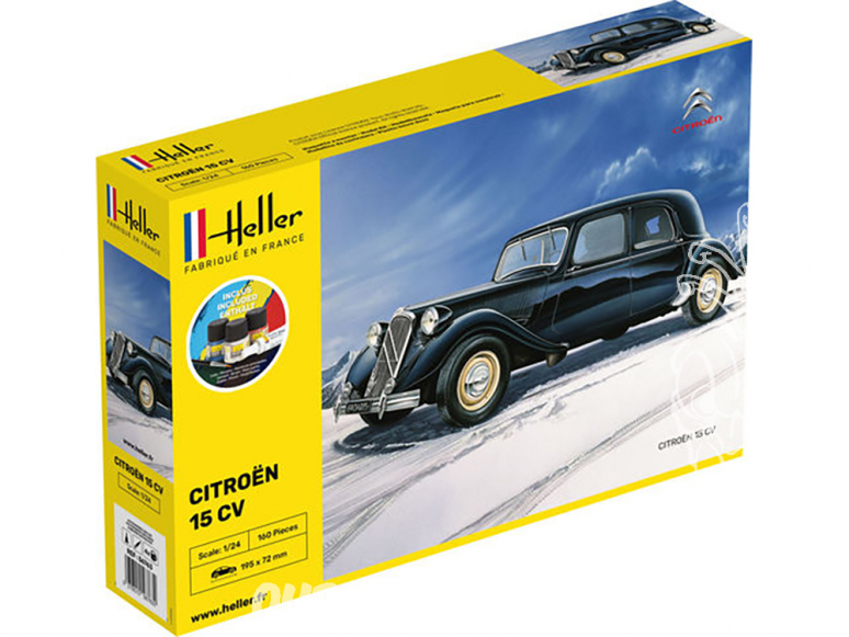 Heller maquette voiture 56763 Starter Kit Citoen 15CV ensemble complet 1/24