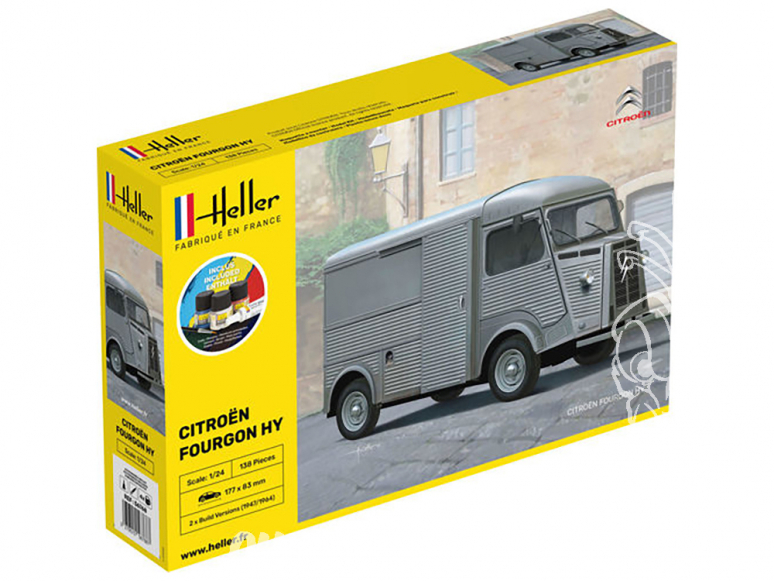 Heller maquette voiture Starter Set 56768 Coffret Citroen fourgon Type H HY Tube 1/24