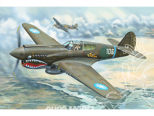 Trumpeter maquettes avion 02269 P-40E War Hawk 1/32