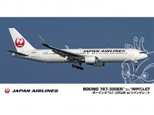 Hasegawa maquette avion 10812 Japan Airlines Boeing 767-300ER avec Winglet 1/200