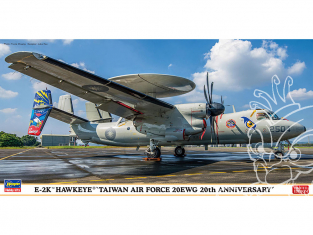 Hasegawa maquette avion 02337 E-2K Hawkeye «Taiwan Air Force 20EWG 20th Anniversary» 1/72