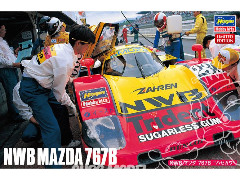 Hasegawa maquette voiture 20446 NWB Mazda 767B «Hasegawa» 1/24
