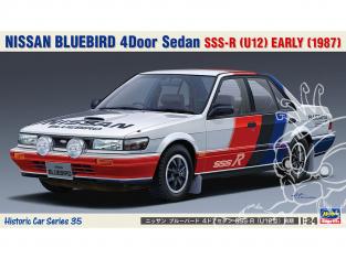 Hasegawa maquette voiture 21135 Nissan Bluebird 4 portes berline SSS-R (type U12) 1987 1/24