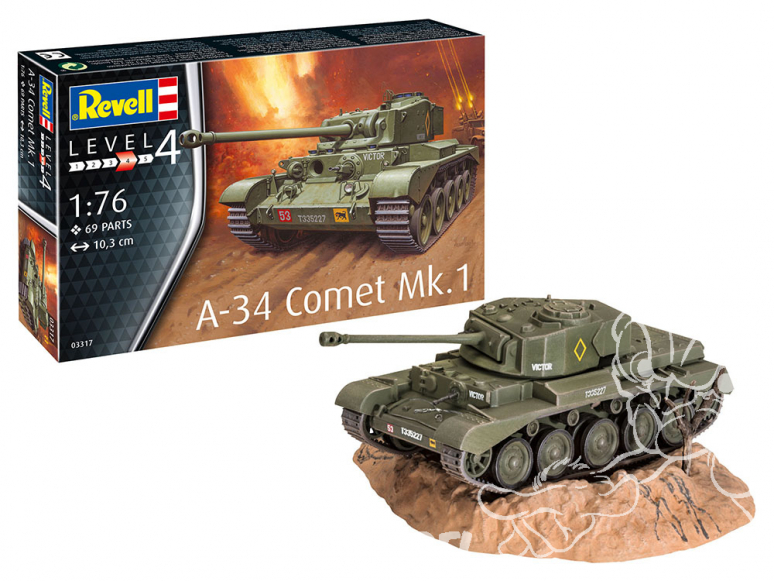 Revell maquette militaire 03317 A-34 Comet Mk.1 1/76