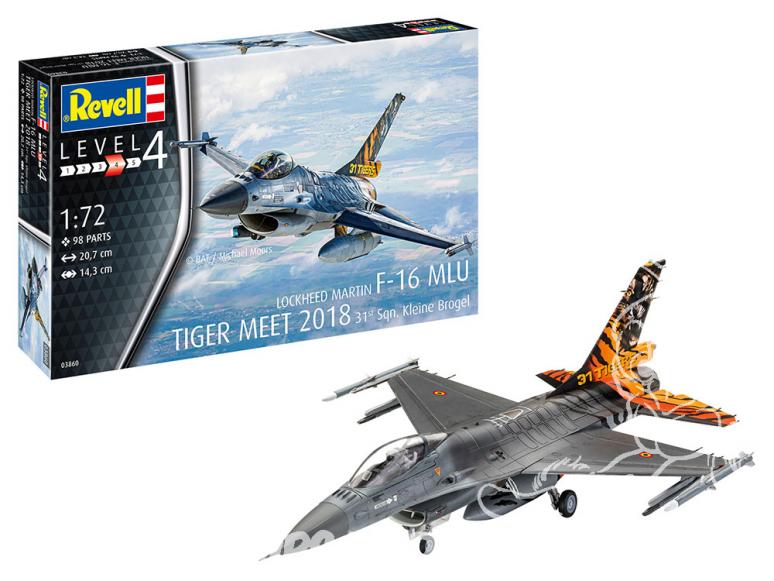 Revell maquette avion 03860 F-16 MLU TIGER MEET 2018 31 Sqn. Kleine Brogel 1/72