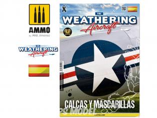 MIG Weathering Aircraft 5117 Numero 17 Calcas y Mascarillas en langue Castellane