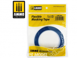Mig accessoires 8042 Ruban de masquage flexible 3mm x 33m Bande cache flexible