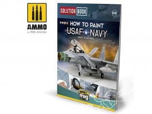 MIG Librairie 6509 Solution Book - Comment peindre USAF / Navy Chasseurs gris en Français (Multilangues)