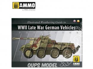 MIG Librairie 6015 Véhicules Allemands fin de guerre WWII - Guide de Weathering illustré en Anglais - Espagnol