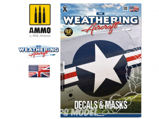 MIG Weathering Aircraft 5217 Numero 17 Decals & Masks en Anglais