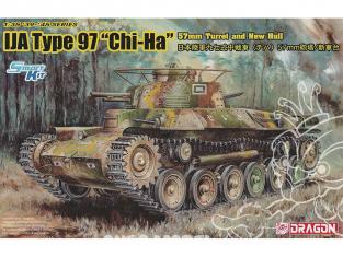 """Dragon maquette militaire 6875 IJA Type 97 """"Chi-Ha"""" avec canon de 57 mm et nouvelle coque 1/35"""