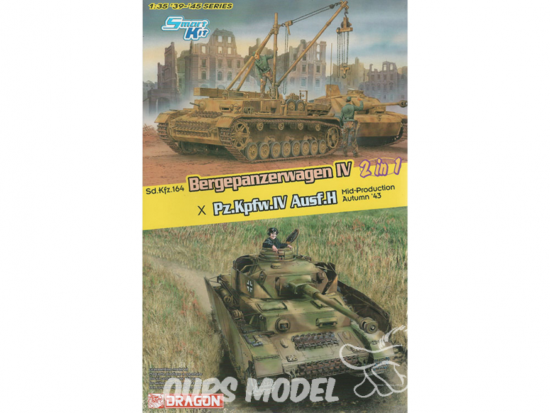 Dragon maquette militaire 6951 Bergepanzerwagen IV / Pz.Kpfw.IV Ausf. H Mid Production (2 in 1) 1/35