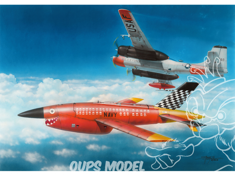 Plus Model maquette avion AL7028 BQM-34 Firebee 1/72