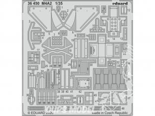 Eduard photodecoupe militaire 36450 Amélioration M4A2 Zvezda 1/35