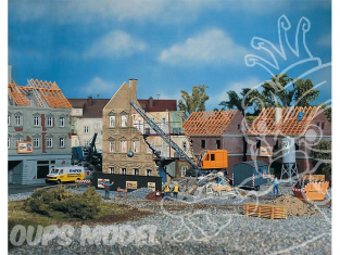 Faller 130466 Maison en demolition avec excavateur de demolition HO