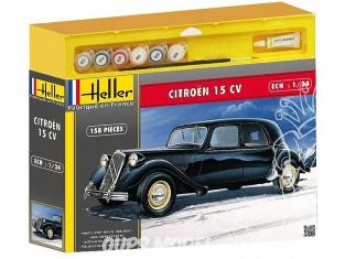 HELLER maquette voiture 50763 Citroen 15CV 1/24