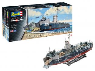 Revell maquette bateau 05169 classe LSM (Landing Ship Medium) 1/144